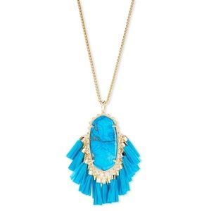 Kendra Scott Betsy Tassel Turquoise Necklace